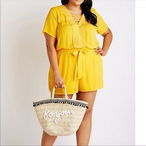 Pants - Yellow plus Sz 3X romper